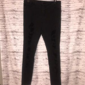 """NWT Missguided """"Sinner"""" Distressed Jeans US 12"""